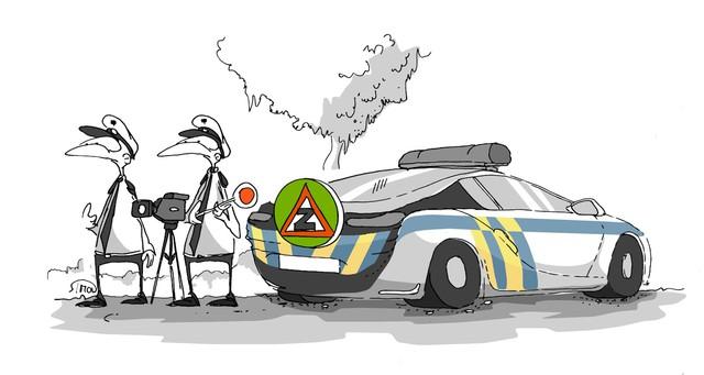 Kreslený vtip: Beze slov. Autor: Marek Simon