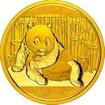 Zlatá mince 1/4 oz (trojské unce) PANDA Čína