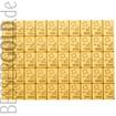 Zlatý slitek 50x1g Combibar VALCAMBI (Švýcarsko)