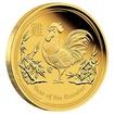 Zlatá mince 1/4 oz (trojské unce) ROK KOHOUTA Austrálie 2017
