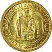 Zlatá mince Svatý Václav Jednodukát Československý 1935