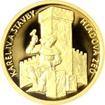 Zlatá mince 5 NZD Karel IV. a stavby - Hladová zeď 2016 Proof