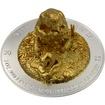 Stříbrná mince 3 Oz pozlacená 3D Panda Full Dimensional Minting 2015 Proof