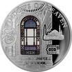 Stříbrná mince Chrám Boží Moudrosti Mozaikové okno apsidy 2016 Proof
