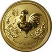 Zlatá investiční mince Year of the Rooster Rok Kohouta Lunární 1/4 Oz 2017