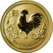 Zlatá investiční mince Year of the Rooster Rok Kohouta Lunární 1/2 Oz 2017