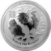 Stříbrná investiční mince Year of the Rooster Rok Kohouta Lunární 1 Kg 2017
