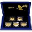 Premium Size Gold Bar Eagle Collection Sada zlatých mincí 2016 Proof
