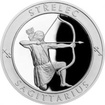 Stříbrná medaile Znamení zvěrokruhu s věnováním - Střelec 2017 Proof