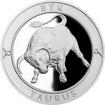 Stříbrná medaile Znamení zvěrokruhu s věnováním - Býk 2017 Proof
