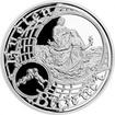 Postříbřená medaile Staroměstský orloj - Blíženci 2017 Proof