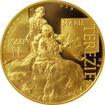 Zlatá dvouuncová mince Marie Terezie a Josef II. 2017 Proof