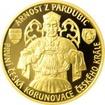 Zlatá čtvrtuncová mince Arnošt z Pardubic - první česká korunovace 2017 Proof