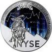 Stříbrná mince 250g New York Stock Exchange 200. výročí 2017 Proof