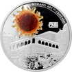 Stříbrná mince Rialto bridge 2 Oz Murano Art en Cristall 2014 Proof