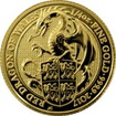 Zlatá investiční mince The Queen's Beasts Red Dragon 1/4 Oz 2017
