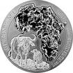 Stříbrná investiční mince Buvol africký Rwanda 1 Oz 2015
