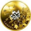 Stříbrná pozlacená mince Whispering Maple Leaves 2017 Proof