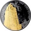 Stříbrná Ruthenium mince pozlacený Big Ben 1 Oz Golden Enigma 2017 Standard