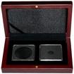 Univerzální hnědá krabička pro dvě mince do váhy 1 unce