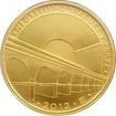 Zlatá mince 5000 Kč Negrelliho Viadukt v Praze 2012 Standard
