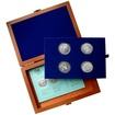 Sada stříbrných pamětních mincí roku 1995 v dřevěné krabičce Standard