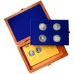 Sada stříbrných pamětních mincí roku 1999 v dřevěné krabičce Standard