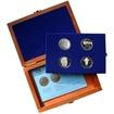 Sada stříbrných pamětních mincí roku 2003 v dřevěné krabičce Standard