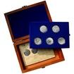 Sada stříbrných pamětních mincí roku 2001 v dřevěné krabičce Standard