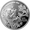Stříbrná investiční mince Panda 1 Oz 1995