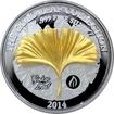 Stříbrná mince 3D Zlatý Ginkgo Leaf 1 Oz Gold Leaf Collection 2014 Proof