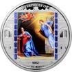 Stříbrná mince 3 Oz Zvěstování Philippe de Champaigne 2014 Krystaly Proof