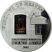Stříbrná mince Metropolitní katedrála Buenos Aires Okno Sv. Martina 2014 Proof
