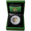 Stříbrná mince pozlacený 5 Oz Year of the Snake Rok Hada 2013 Proof