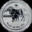 Stříbrná investiční mince Year of the Ox Rok Buvola Lunární 1 Oz 2009
