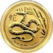 Zlatá investiční mince Year of the Snake Rok Hada Lunární 1/4 Oz 2013