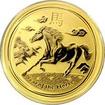 Zlatá investiční mince Year of the Horse Rok Koně Lunární 1/2 Oz 2014