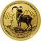 Zlatá investiční mince Year of the Goat Rok Kozy Lunární 1/2 Oz 2015