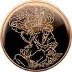 Zlatá mince Anděl zabraňuje oběti 10 NIS Izrael Biblické umění 1994 Proof