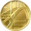 Zlatá mince 5000 Kč Žďákovský obloukový most 2015 Standard