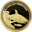 Zlatá mince Žralok Marine Life Protection Miniatura 2008 Proof