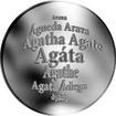 Česká jména - Agáta - stříbrná medaile
