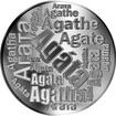 Česká jména - Agáta - velká stříbrná medaile 1 Oz