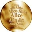 Česká jména - Alice - zlatá medaile