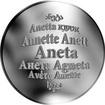 Česká jména - Aneta - stříbrná medaile