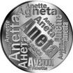 Česká jména - Aneta - velká stříbrná medaile 1 Oz
