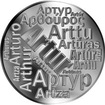 Česká jména - Artur - velká stříbrná medaile 1 Oz