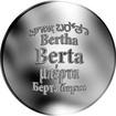 Česká jména - Berta - stříbrná medaile