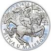 Bitva u Malešova - 590. výročí stříbro patina