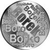 Česká jména - Bořek - velká stříbrná medaile 1 Oz
